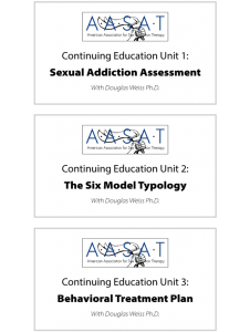 Continuing Education Units at The American Association For Sex Addiction Therapy